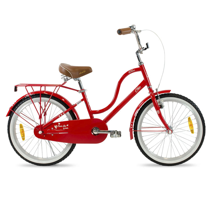 BICICLETA R20 TURBO CHIC ROJA