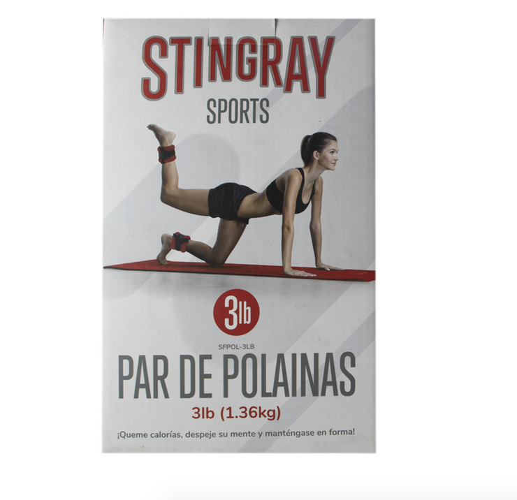 Polainas 3lbs/1.3 kg STINGRAY FITNESS SFPOL-3LB