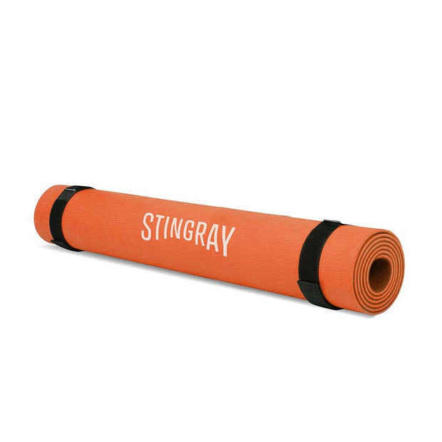 Tapete Yoga STINGRAY FITNESS 10mm 180x60cm con Correa Naranja SFTAP-10MM-CB-O