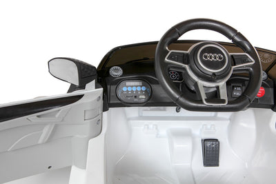 Licensed White Audi TT RS Battery Ride On Car 12V