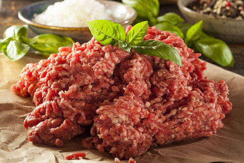 Beef - Prime Rib Burger Mince Mix No Garlic 2 X 5lb tubes  - AAA 40+ Days Aged Grass-Fed Ontario Beef