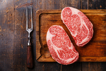 Beef - Ribeye (Boneless) 12oz - Australian Wagyu F1 100% grain-fed & finished 60+ Days Aged HALAL