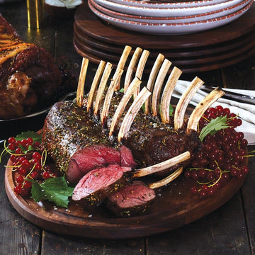 Game Meats - Venison Rack Halal Frenched FRESH Cap Off 8 Bone 3lb 4/Case