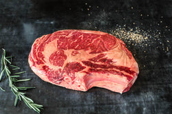 Beef - Ribeye Steak 12oz (Bone-In) - Prime 40+ Days Aged Grass-Fed Ontario Beef
