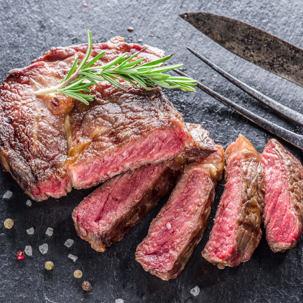 Beef - Ribeye Steak (Boneless) 8oz - AAA 40+ Days Aged Grass-Fed Ontario HALAL