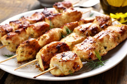 Poultry - Chicken Kabobs Seasoned 2.25lb average (8 loaded skewers)