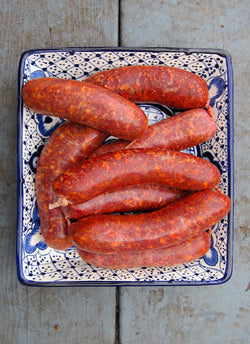 Pork - Hot Mexican Sausages (Chorizo) 4 pcs (1lb)