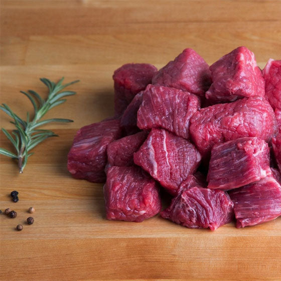 Beef - Stewing Beef Hand Cut Daily Halal 1lb