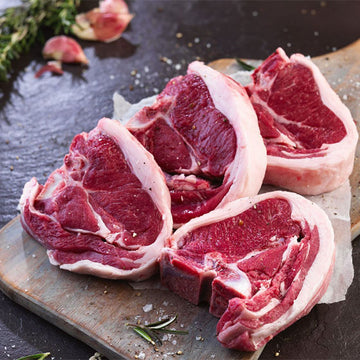 Halal - Lamb - Loin Chops 4 x 1lb (cryopacked by 4 chops)