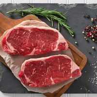 Beef - New York Striploin Steak Centre-Cut 14oz - AAA 40+ Days Aged Grass-Fed Ontario Beef