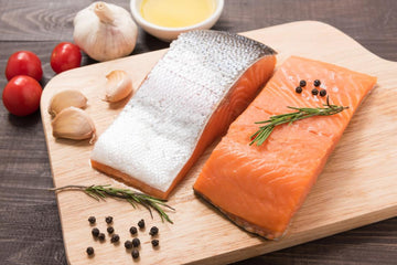 Seafood - Atlantic Salmon Boneless & Skin-On Fillets 6oz each (6 per case)