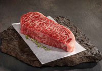 Beef - NY Striploin 12oz X 4 steaks American Wagyu 40+ Wet-Aged Grass-Fed Beef
