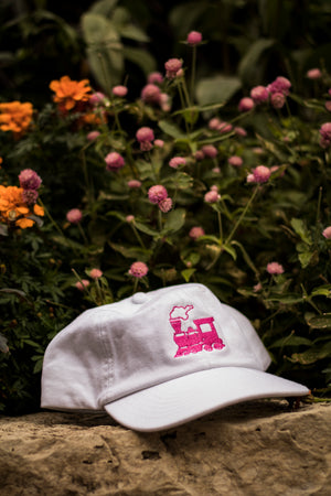 GRAVY TRAIN DAD HAT (WHITE/PINK)