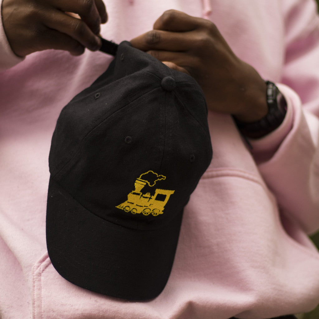 GRAVY TRAIN DAD HAT (BLACK GOLD) - Creamium db503f05a72