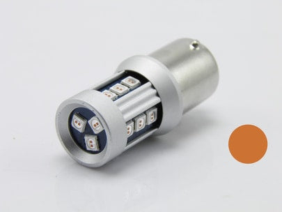 Ampoule LED 1156 / P21W / R5W Orange 24V