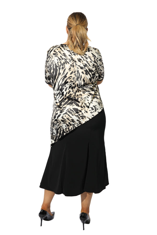 Silk Leopard Angle Top