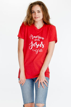 "Copy of ""America Needs Jesus Y'all"" Graphic T-Shirt"