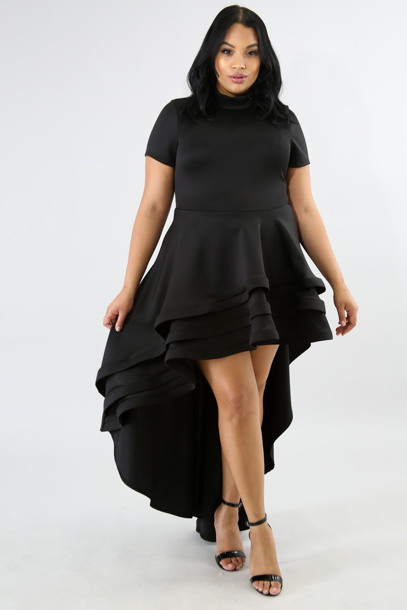 Mina Long Tail Flared Dress