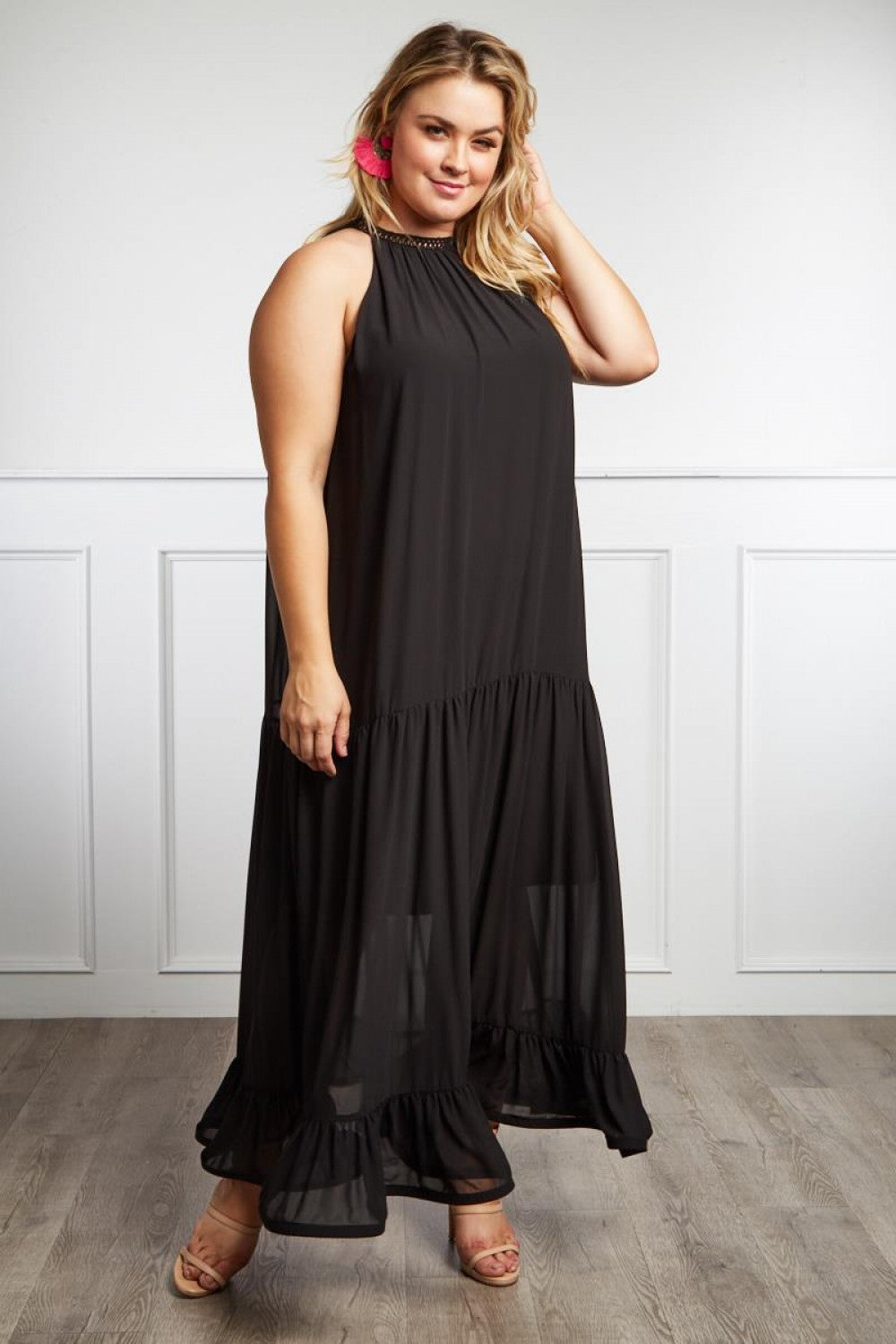 Polly Ruffle Maxi Dress