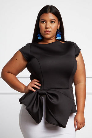 Plus Size Bow Blouse