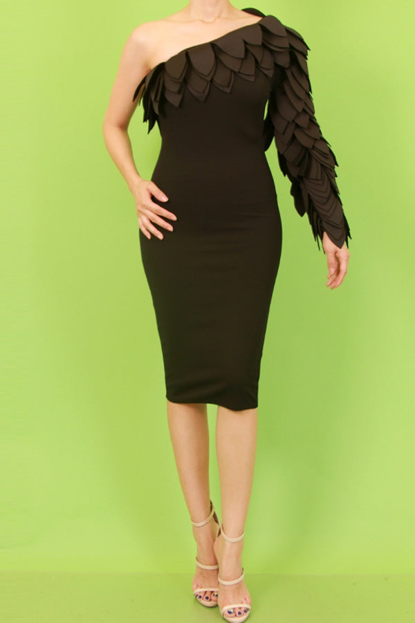 Harper Black Midi Dress