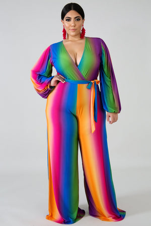 Mdcurvy Colored Palate Jumpsuit