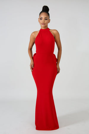 Lady in Red Maxi Dress - Red