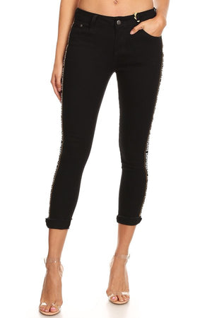 Black Skinny Jeans with Button/Zipper Closure