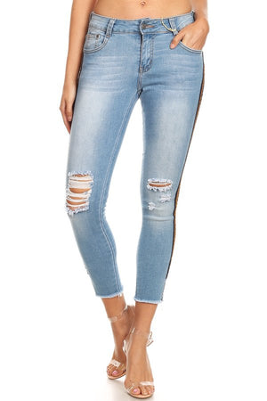 Light Blue Ripped Skinny Jeans
