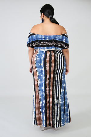 Sky Maxi Flounce Dress