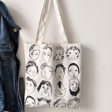 Load image into Gallery viewer, Character Sketch Tote Bag