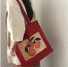 Load image into Gallery viewer, Peach Tote Bag