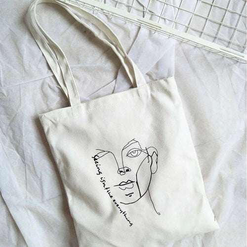 Figure and Literature Tote Bag