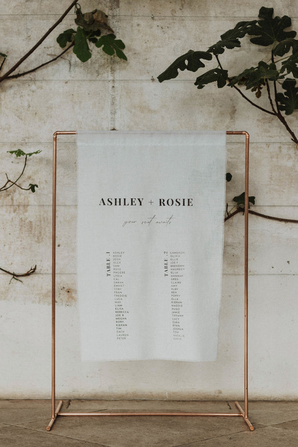 custom wedding seating plan