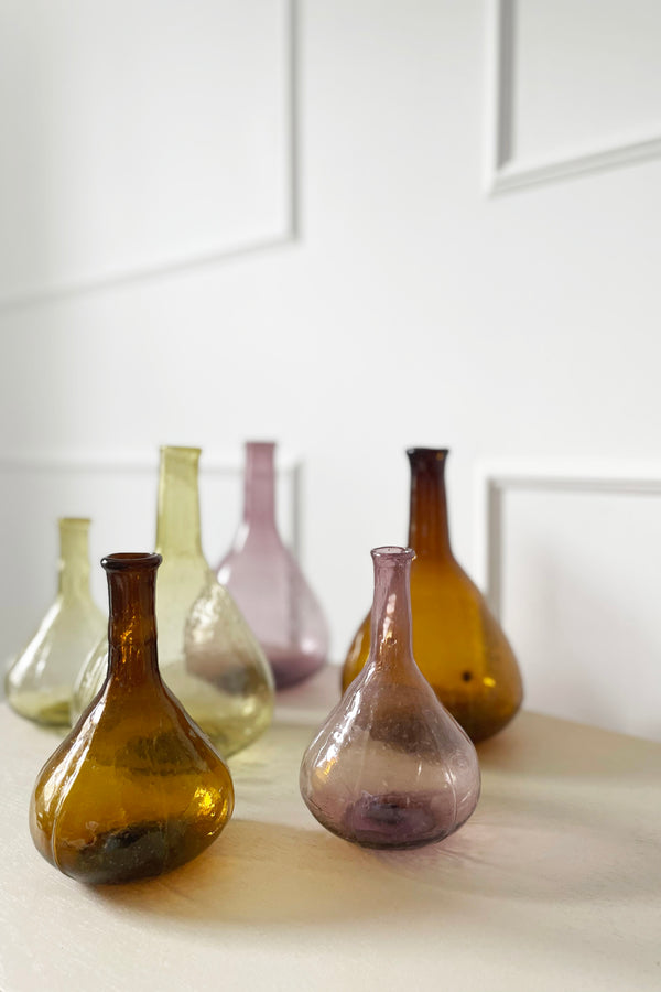 Recycled Glass Stemmed Vases