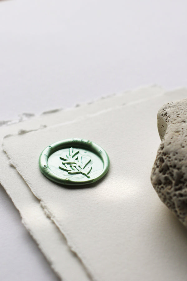 Olive Branch Self-Adhesive Wax Seal