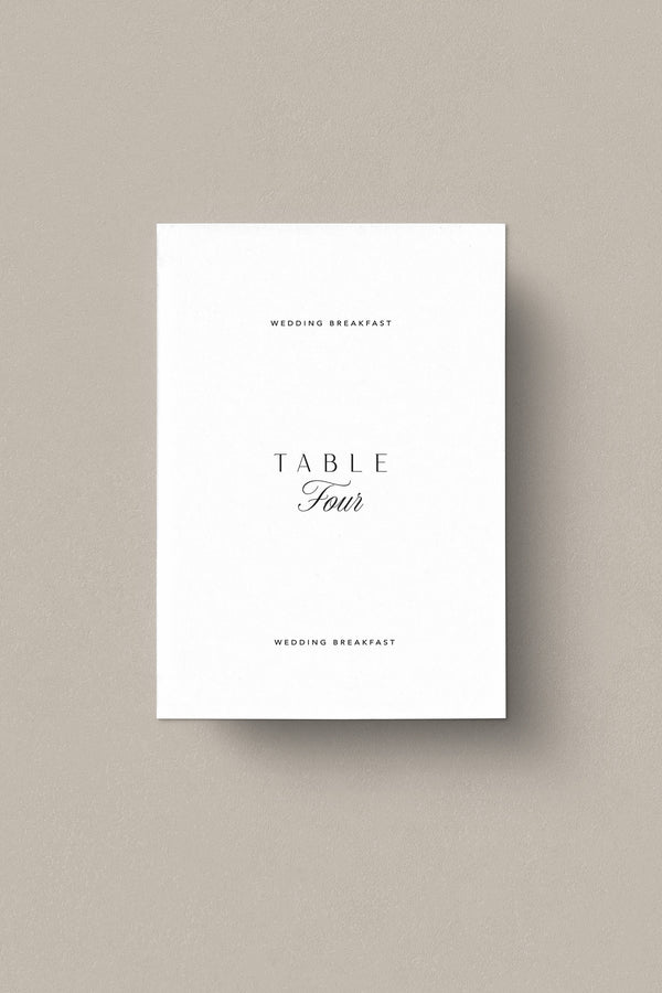 Berkeley Square Table Numbers - Set of 10