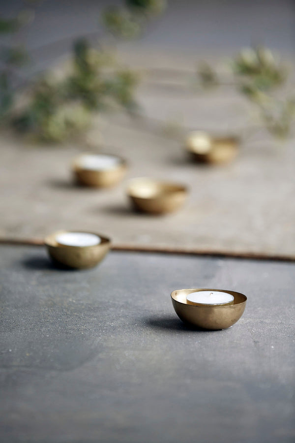 Metal Tea Light Holders - Set of 6