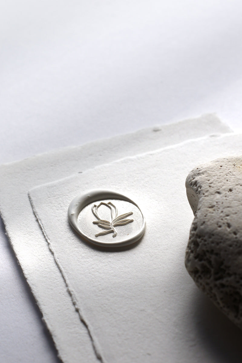 Magnolia Flower Self-Adhesive Wax Seal