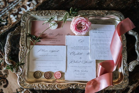 Wedding invitation suite downtown abbey