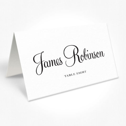 Wedding place cards, Choose any colour, Beautiful calligraphy font