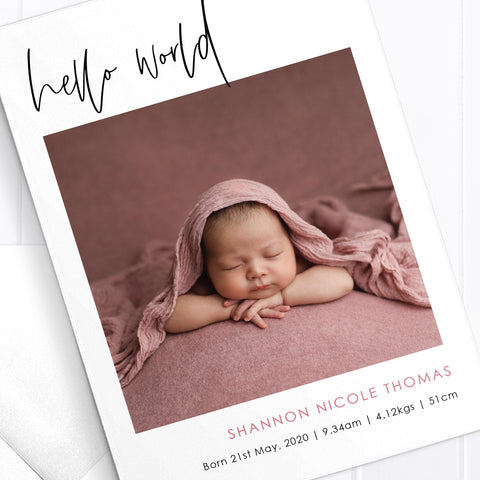Baby Girl Birth Announcement - Shannon