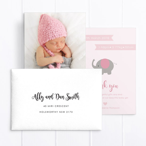Baby Girl Birth Announcement - Ava