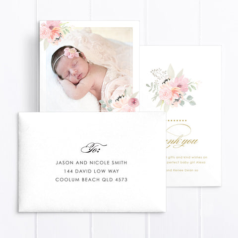 Baby Girl Birth Announcement - Claire
