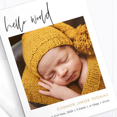 Baby Boy Birth Announcement - Connor