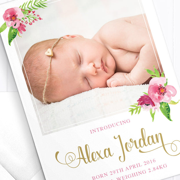 Baby Girl Birth Announcement - Darling
