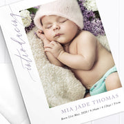 Baby Girl Birth Announcement - Mia