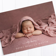Baby Girl Birth Announcement - Poppy
