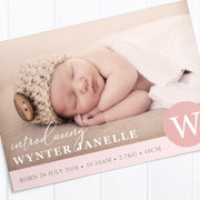 Baby Girl Birth Announcement - Wynter
