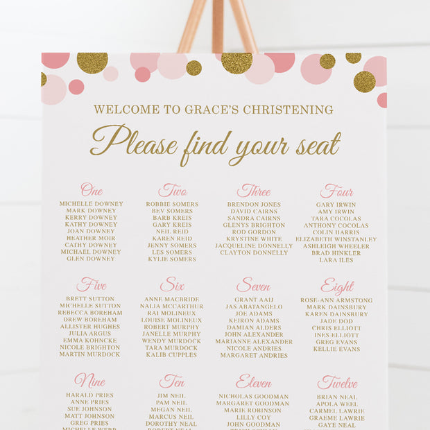 Sparkle Confetti - Seating Chart